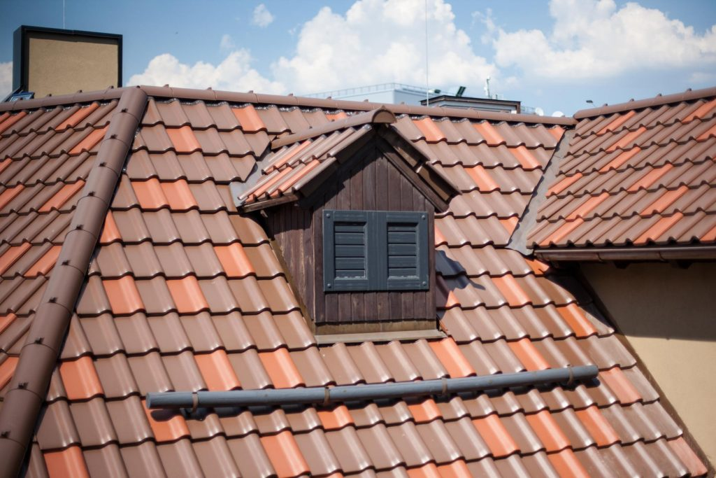a house galvanized roof